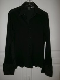 Jean-Paul Gaultier Button Down Shirt Black