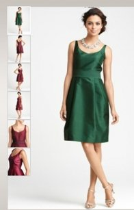 Ann Taylor Green Silk Dupioni Bridesmaid Dress Dress