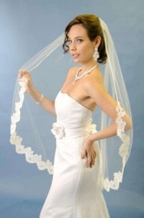 Ivory Ansonia Bridal Lace Wedding Veil