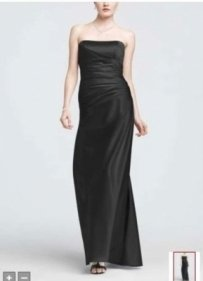 David's Bridal Black F13974 Dress