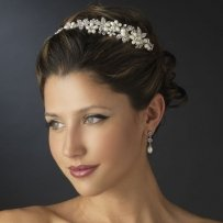 Elegance By Carbonneau Pearl And Rhinestone Wedding Headband