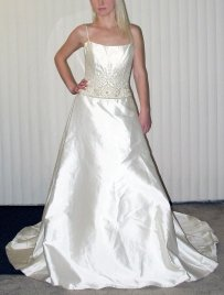 Lazaro Mikado Wedding Dress