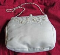 Bridal Handbag With Beaded Handle