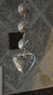 75-6 Inch Glass Heart Custom Listing