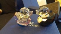 Swarovski Crystal Pair Of Happy Ducks