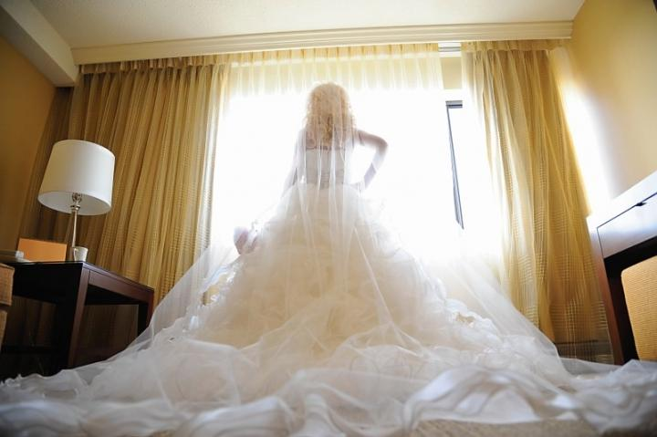 Justin Alexander Customized Couture Style Ballroom Gown Wedding Dress