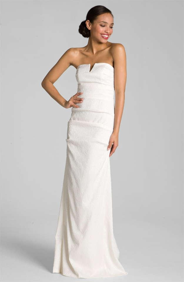 Nicole miller veronique stretch jacquard gown wedding for Nicole miller wedding dresses nordstrom