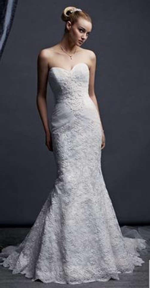 Oleg cassini oleg cassini crl277 plus veil wedding dress for Wedding dress designer oleg cassini