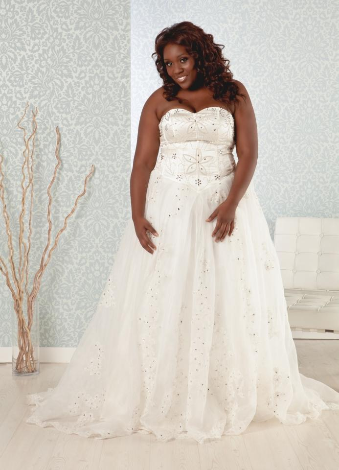 madeline plus size princess ball gown wedding dress