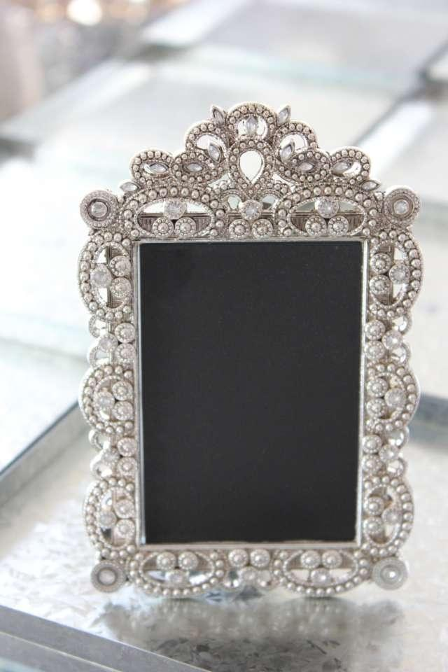 Set Of 10 Jeweled Mini Frames Photo Table Numbers Place