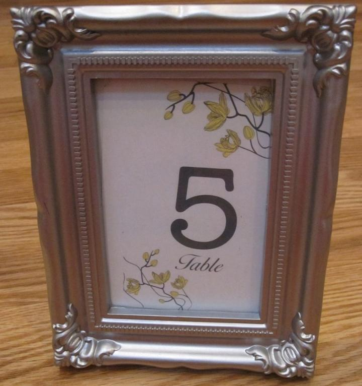 modern silver table number frames tradesy weddings