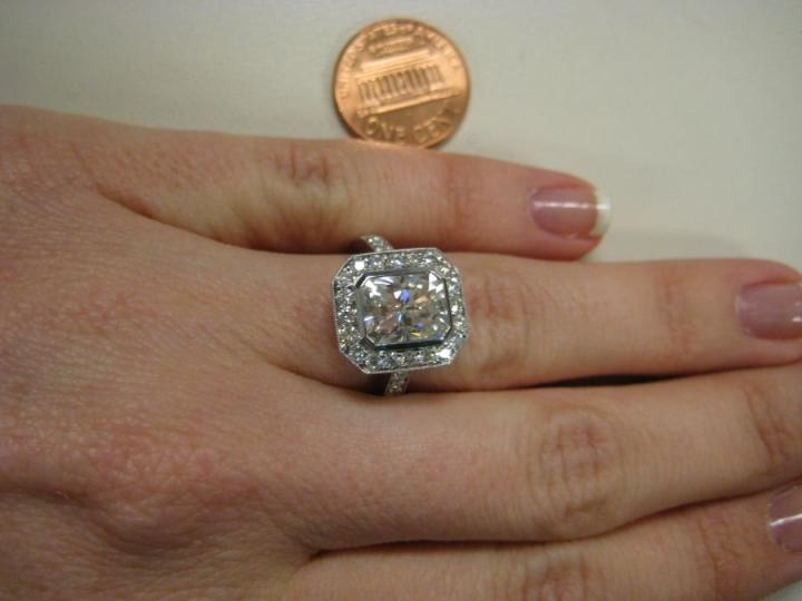 Vintage Moissanite Engagement Ring Tradesy Weddings
