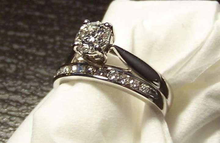 Zales Platinum Diamond Engagement And Wedding Band Set