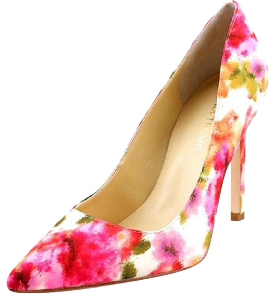 Ivanka Trump Pointed Toe Pink Floral Pumps ...