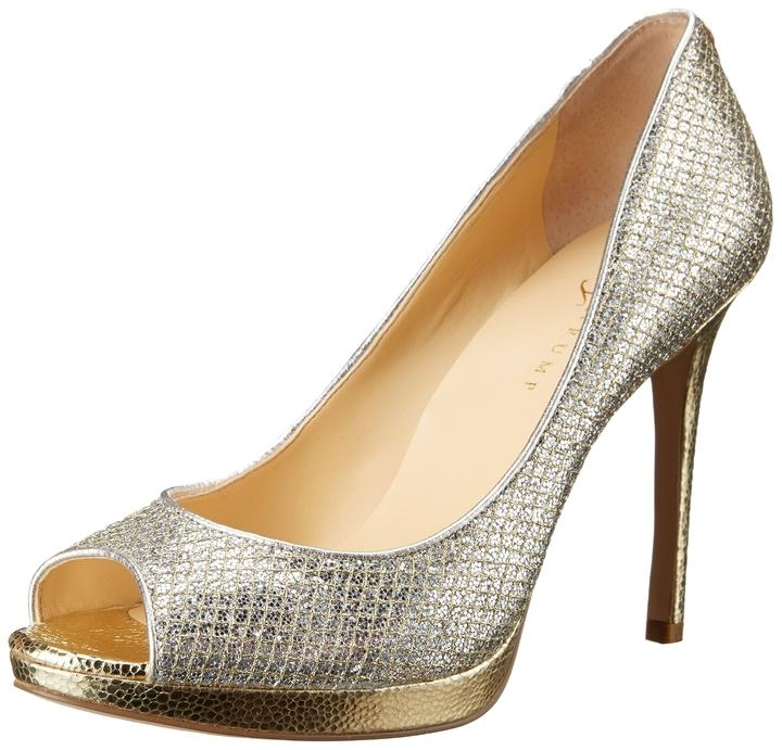 Ivanka Trump Gold and Silver Glitter Formal