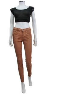 J Brand J Kinsey Pieced Panel Tuxedo Stripe In Tigers Eye 25 Skinny Jeans
