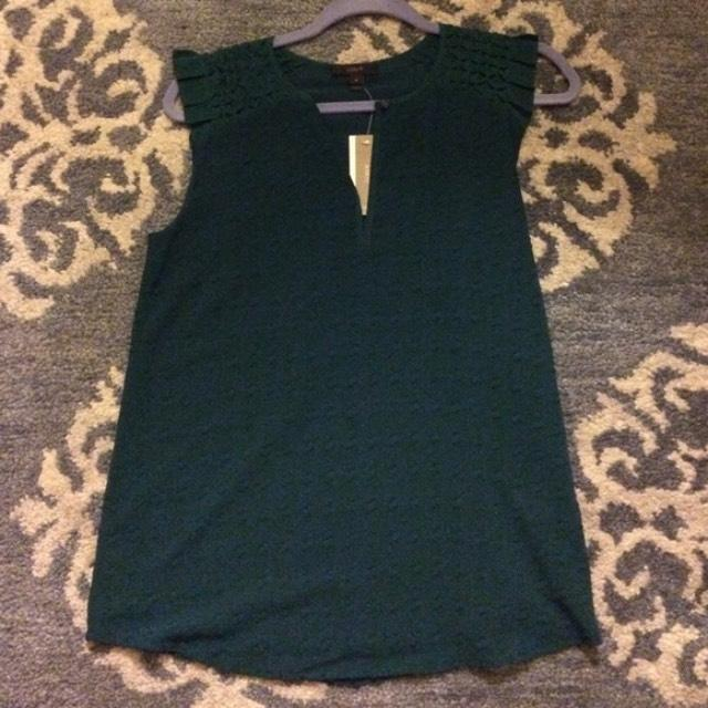 J crew Sleeveless ruffle cap-sleeve top size 4