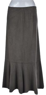 J. Jill Womens Textured Casual Ankle Length Skirt Gray