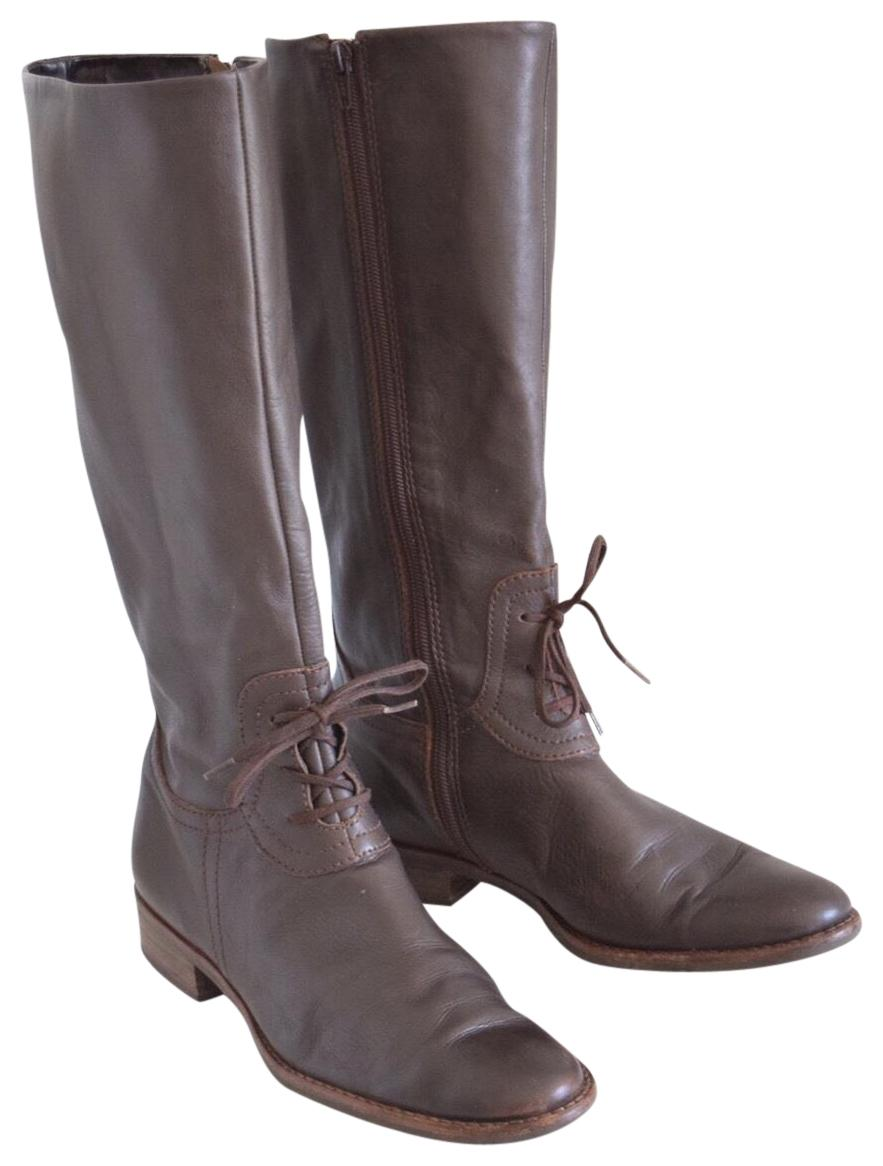 638c0a045 J. Jill Brown Leather Boots Booties Size US 8.5 Regular (M