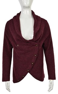 J. Jill Womens Burgundy Cardigan Knit Long Sleeve Sweater