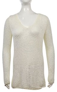 J. Jill Womens V Neck Cotton Loose Knit Casual Shirt Sweater