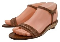 Jack Rogers Womens Woven 6m Leather Espadrilles Brown Sandals