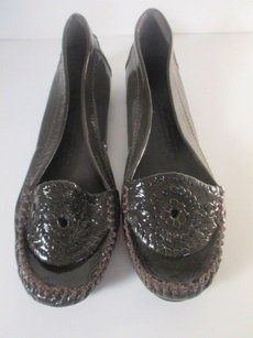 Jack Rogers Waverly Whipstitch Patent Leather brown Flats