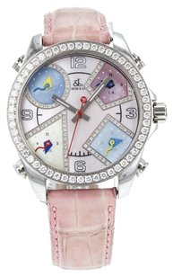 Jacob & Co. Five Time Zones Watch with Mother Of Pearl and Diamond Dial and Bezel A1049 WTJC5
