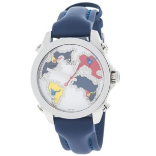 Jacob & Co. Jacob Co. Jcm126 Five Time Zone Diamond World Map Dial Ladies Watch