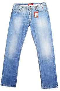Jaggy Womens Blue Straight Leg Jeans