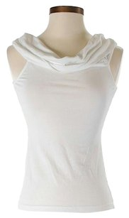 James Perse Cowl Neck Top White
