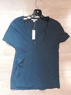 James Perse Casual T T Shirt Marine blue
