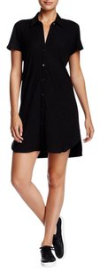 James Perse short dress Black James Short Sleeve Lbd Button Up on Tradesy
