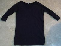 James Perse short dress Black Standard James Womens Cotton Long Sleeve Sweater on Tradesy