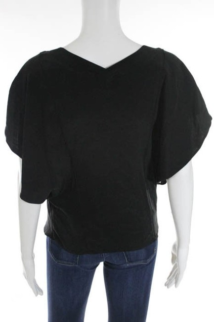 Jamison Silk Oversized Embellished Top Jamison Designer Black