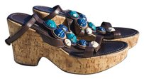 Janet&Janet Comfy Good Deal High Quality multicolor/brown Platforms
