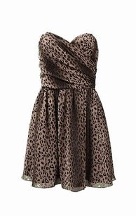 Jay Godfrey short dress Brown black Leopard Print Chiffon Strapless 0 100839f on Tradesy