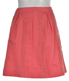 J.Crew Coral 00 Textured Casual Skirt Pink