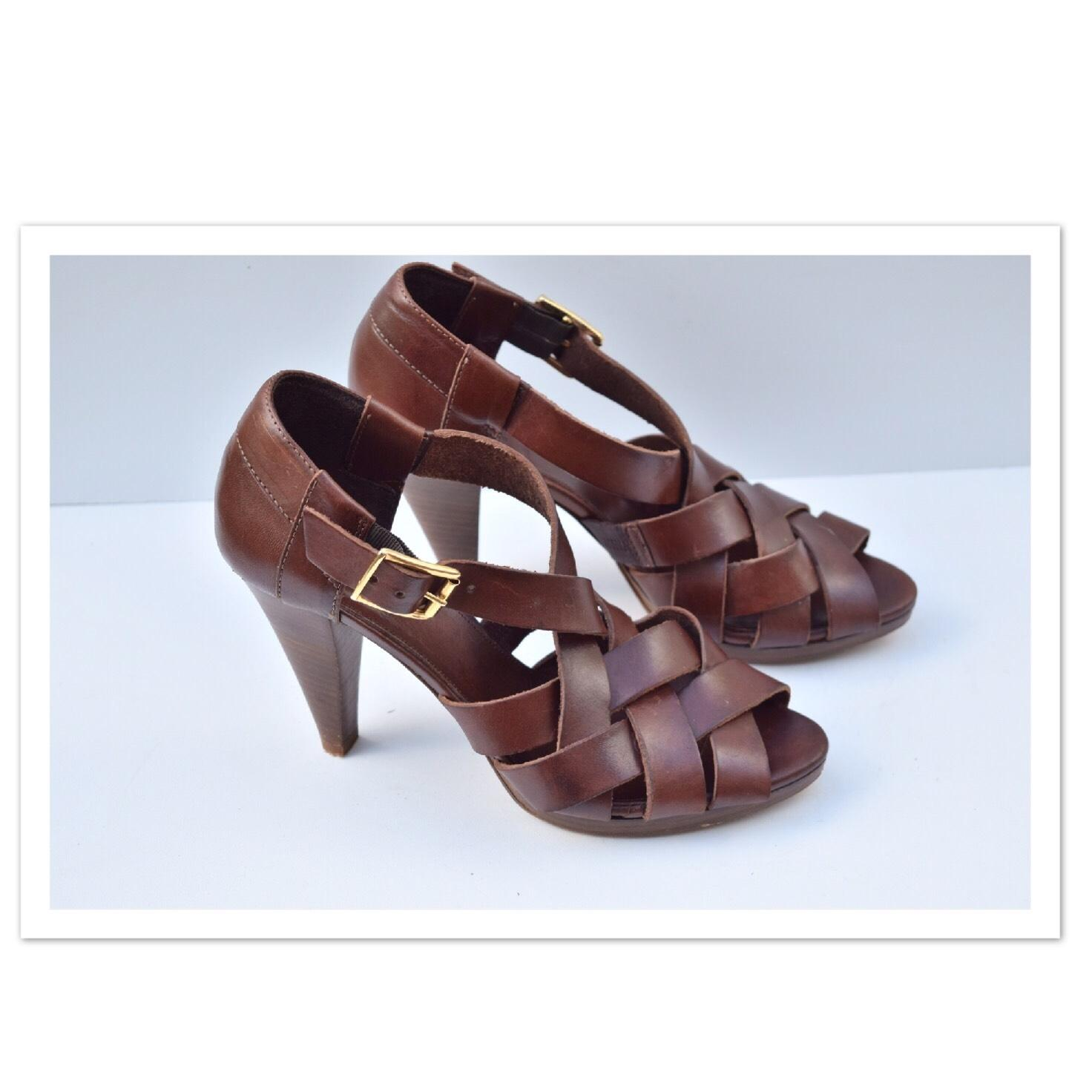 0f3f2f0f908d J.Crew Brown Ares Sandals Size US 7.5 Regular Regular Regular (M