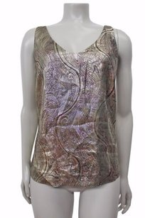 J.Crew Cate Cami In Gilded Paisley Top Gold