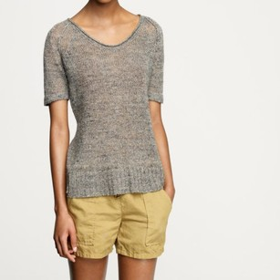 J.Crew Seacomb Crewneck Brown Style 42695 Sweater