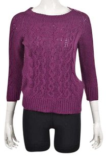 J.Crew Womens Crewneck 34 Sleeve Cable Knit Shirt Sweater