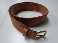 J.Crew J. Crew Brown Leather Belt W Gold Buckle B3034