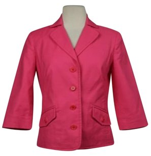 J.Crew J Crew Womens Pink Textured Blazer Cotton 34 Sleeve Career Jacket