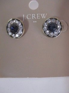 J.Crew J.crew Factory Crystal Stud Earrings A0316 Nav Y