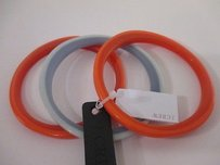 J.Crew J.crew Skinny Resin Bangle Bracelet Orange Blue Set Of Each 52368