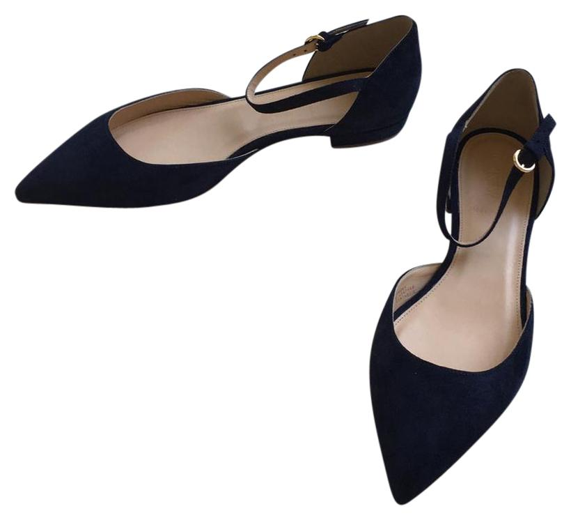 J.Crew Lily suede Pointed Toe Flats, Navy, 8.5, NIB