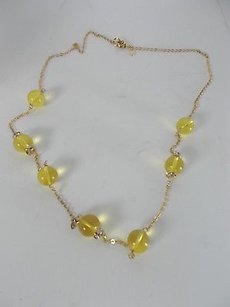 J.Crew Lot Of J.crew Style Defining Yellow Bauble Crystal Ring Necklace
