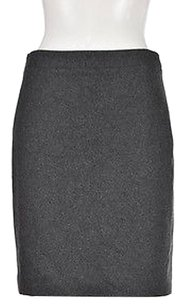 J.Crew Womens Speckled Pencil Wool Textured Knee Length Skirt Gray