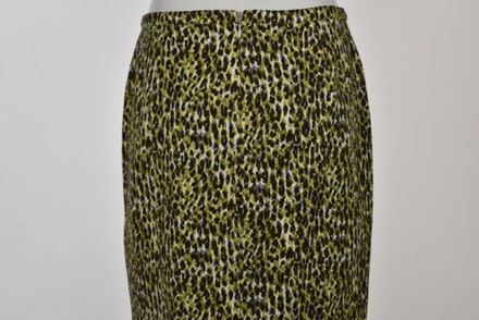 cheap J.Crew J Crew Womens Green Animal Print Pencil Skirt Wtw Below Knee Cotton